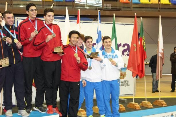 La squadra italiana sul podio! La Spagna vince la medaglia d'oro e la Turchia conquista l'argento!