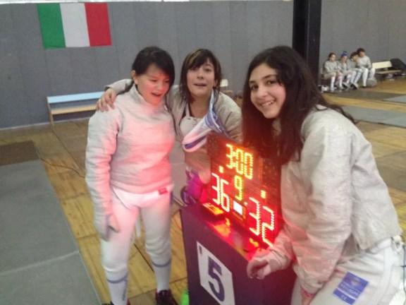 Mercato San Severino 14.02.2015 - GPG - La squadra delle Bambine/Giovanissime Sara Corsetti Fanasca, Alessia Piccoli e Sara Gramshi (Foto Max Piccoli)
