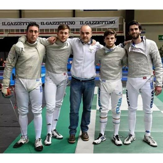 da sinistyra Fabio Bianchi (capitano), Giacomo Mignuzzi, Vincenzo Castrucci, Daniele Biaggi e Nicola Possenti.