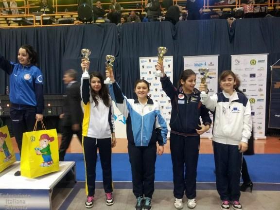 San Severo 29.03.201 5 - 2^ prova nazionale U14 Martina Cotoloni 6^ nella categoria Ragazze di sciabola femminile