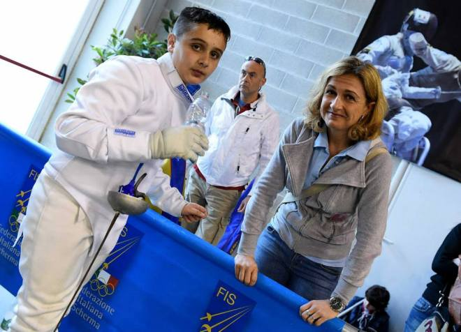 Riccione 29.04.2015  Giovanissimi di Spada - Damiano Esposito ed Elisabetta Castrucci