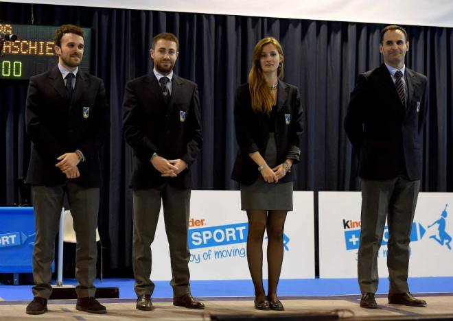 Riccione GPG 29.04.2015 Quartetto arbitrale con Elena Sofia Manca