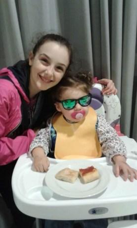 Riccione GPG Lucrezia Paulis e la piccola Francesca in incognito