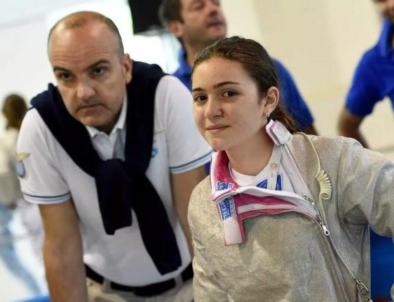 Riccione GPG 04.05.2015 Martina Cotoloni e Vincenzo Castrucci (foto Bizzi per Federscherma)