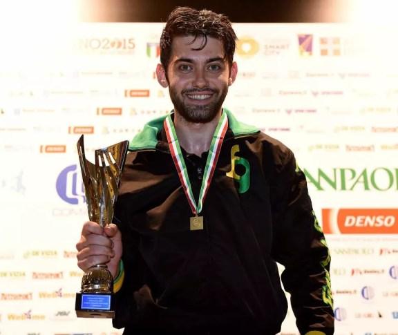 Enrico Berrè Campione Italiano di Sciabola maschile (foto Bizzi/Trifiletti per Federscherma)