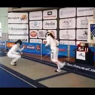 13.06.2015 Trofeo Comitato Regionale Lazio  Spada femminile Sara Bellucci in azione
