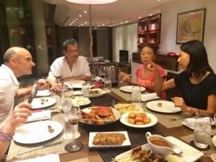 05.08.2015 Cena tipica singaporiana... ospitalità squisita della famiglia Ong