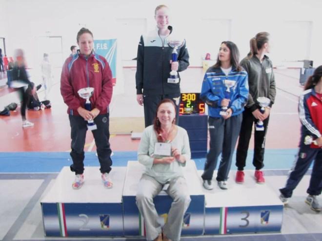 27 settembre 2015 1^ prova di qualificazione regionale  Il podio della spada femminile con Susan Sica e Roberta Castrucci