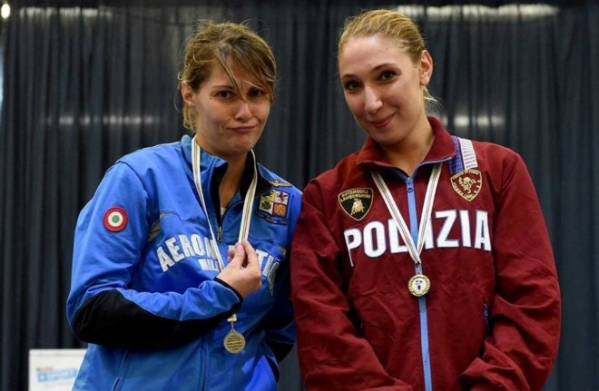 Erba 3.10.2015 Prima Prova di qualificazione nazionale -sciabola femminile Alessandra Lucchino e Sofia Ciaraglia  (foto Bizzi per Federscherma)