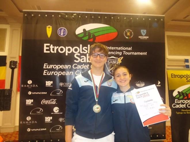 Sòfia (BUL) 6.11.2015 - Etropolsky's Sabre  Adriano Gatti e Martina Cotoloni