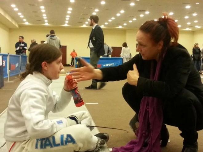 19.03.2016 caserta  2^ prova nazionale U14 Spada Francesca Di Giulio con Roberta Castrucci (foto G.Ciacchi)