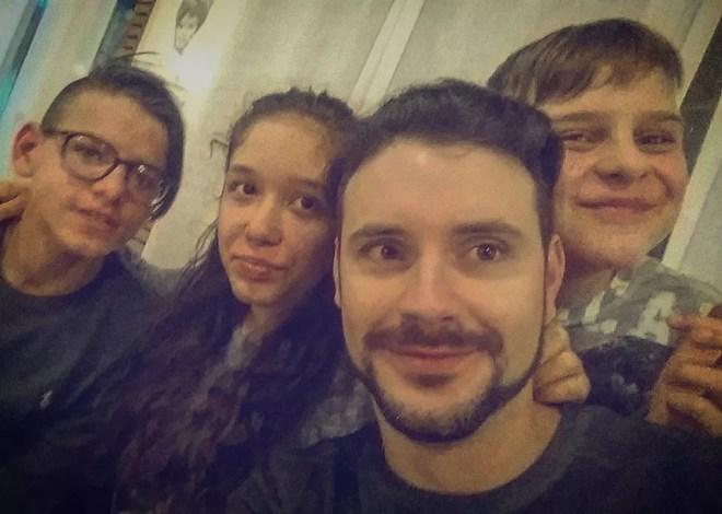 Riccione 05.03.2016  2^ prova nazionale Under 14 Selfie del M° Lorenzo Nini con Ludovica Genovese, Viorel Fioravanti e Lorenzo Fabrizi