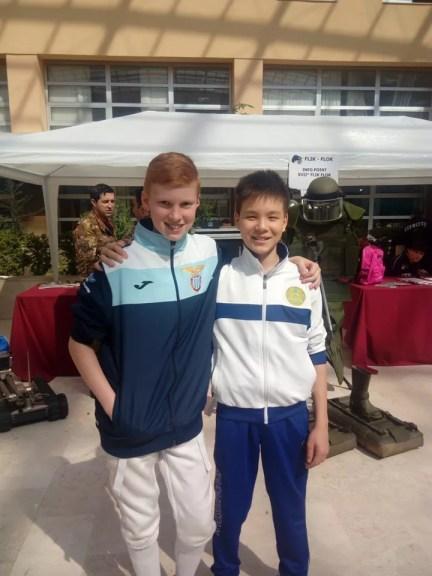 20.03.2016 caserta  2^ prova nazionale U14 Spada William Sica e Alnur Abuov (foto V.Sica)