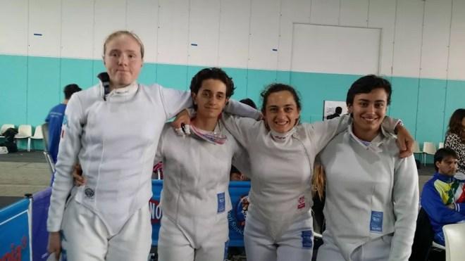 Caorle 23.04.2016 Serie B2 - Spada Femminile Susan Sica, Costanza Colella, Sofia Drag e Giulia Giannattasio  (foto V.Sica)