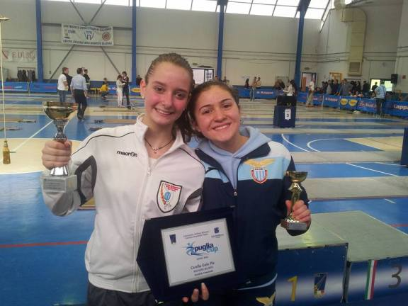 01.04.2016 Baronissi 3^ prova interregionale U14 Martina Cotoloni 3^ classificata nella categoria Ragazze/Allieve di Sciabola (foto D.Cotoloni)