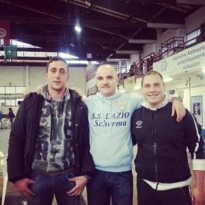 Vincenzo Castrucci con i suoi preziosi collaboratori, Fabio Bianchi e Matteo Martini