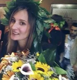 Elena Sofia con l' Alloro di rito