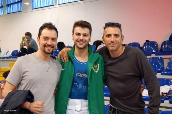11.06.2016 Roma Campionati Italiani Assoluti Damiano Rosatelli  con Guido De Bartolomeo e Alessio Passerini  (foto G.Ciacchi)