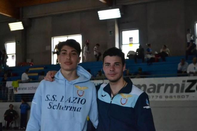 4/5.6.2016 Cassino Federico Colamarco e Alessandro Troìa 1 e 2° classificato nella gara di fioretto maschile (foto PaxCassino)