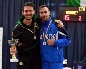 Erba 09.10.2016  1^ prova nazionale di qualificazione open Enrico Berrè (Fiamme Gialle) e Gabriele Foschini (Esercito) (foto Bizzi per Federscherma)