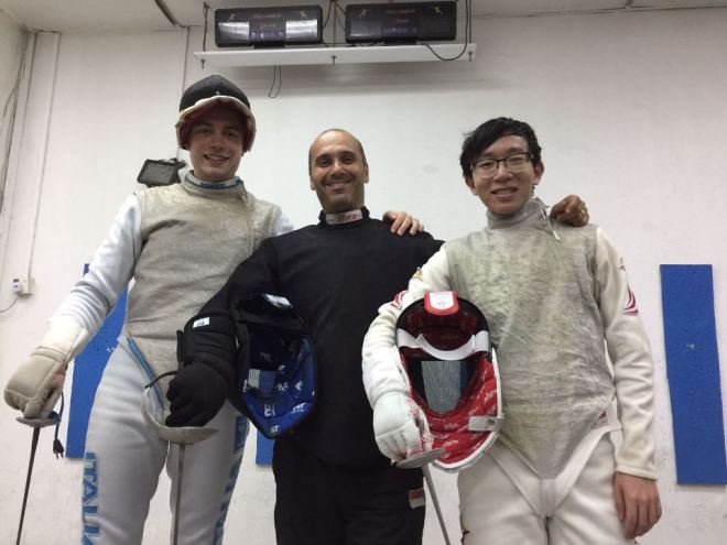 Singapore novembre 2016 Alessio Piazza con il M° Igor Celli
