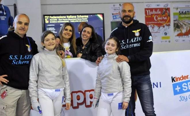 26.04.2017 Riccione Gran Premio Giovanissimi Giovanissime sciabola Flavia Castellacci e Alice Calabresi (foto Trifiletti/Bizzi per Federscherma)