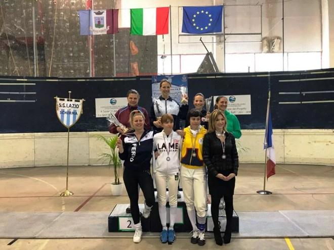 22 aprile 2017 Palariccia 6^ prova nazionale master  Spada femminile cat. 1 (foto C.Alfano)