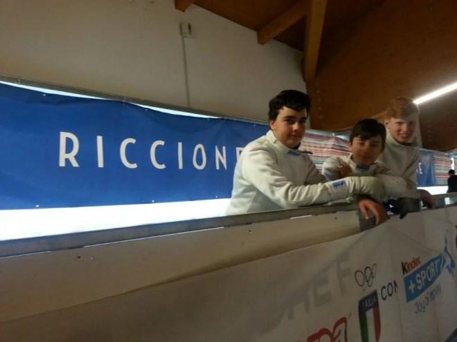 30.04.2017 Riccione Gran Premio Giovanissimi William David Sica con Riccardo Lupi e Lorenzo Di Chiara (foto G.Ciacchi)