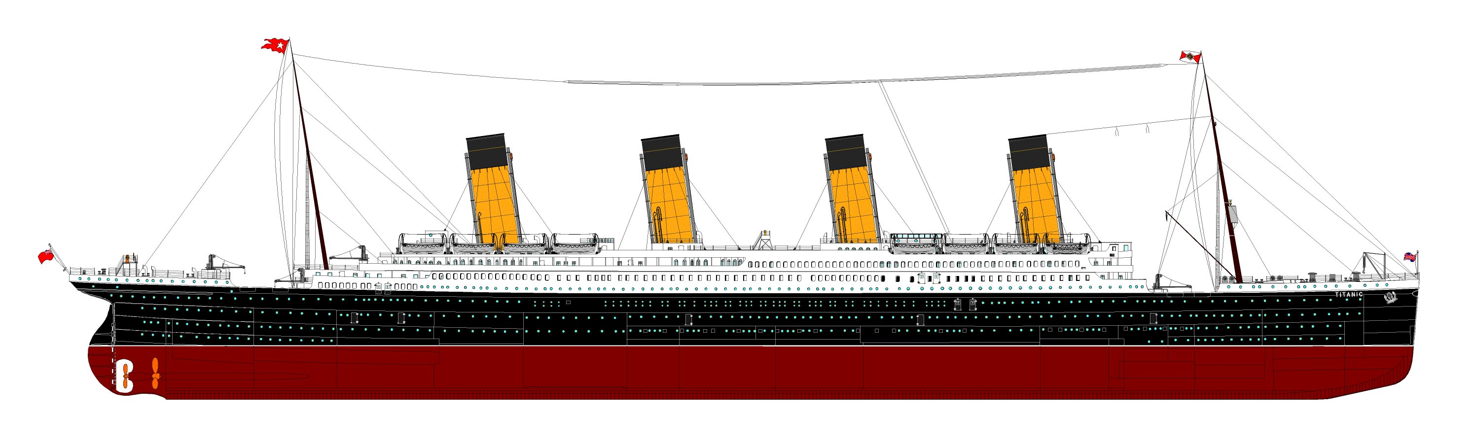 diagram of titanic ship ups wiring rms page three her full deck plan