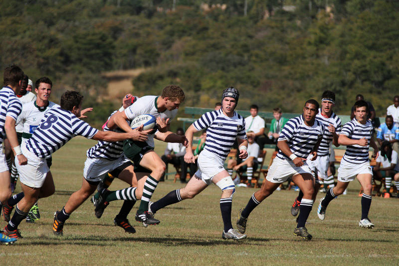 St John's College against SACS at the Leabridge Rugby Challenge