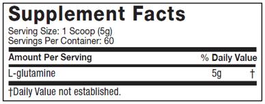 Platinum-100%-Glutamine-nutritional-facts