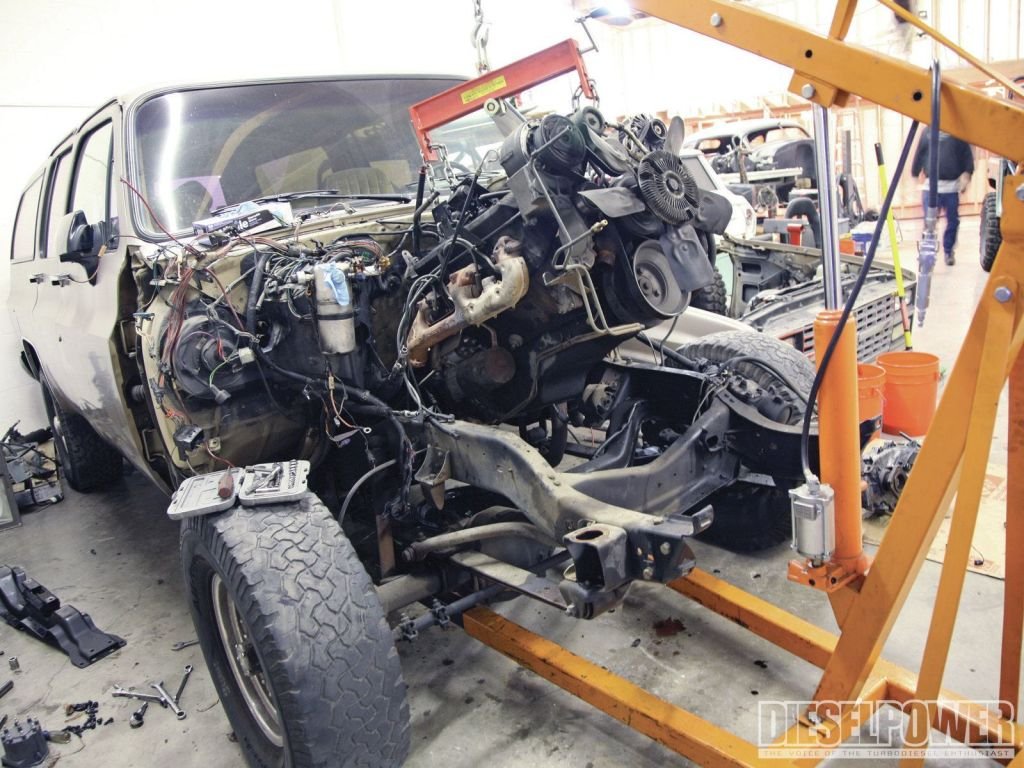 truck trend network, swapping a 5.9l cummins into a 1973 to 1991 suburban