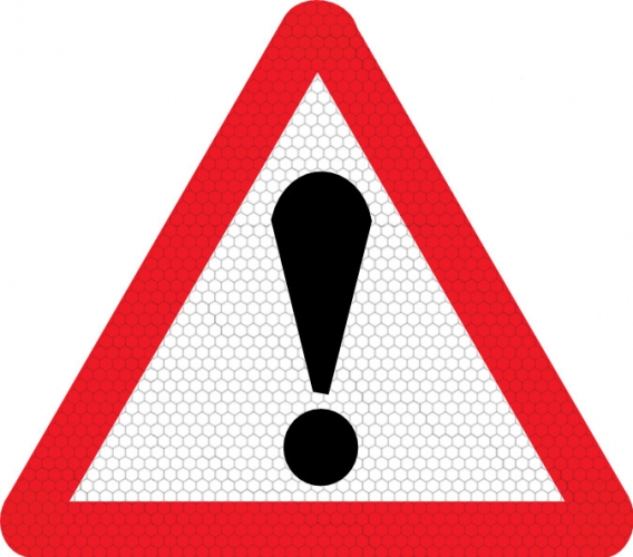 Danger exclamation mark road sign 562  SSP Print Factory