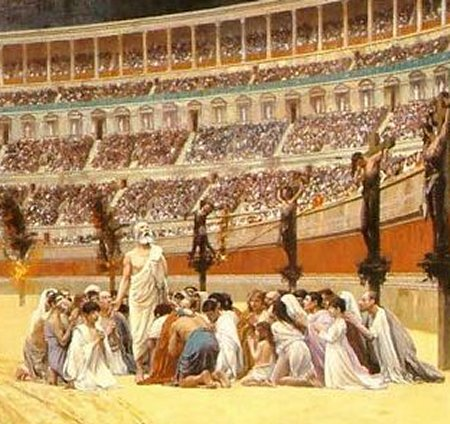 The Christian Martyrs' Last Prayer, by Jean-Leon Gerome