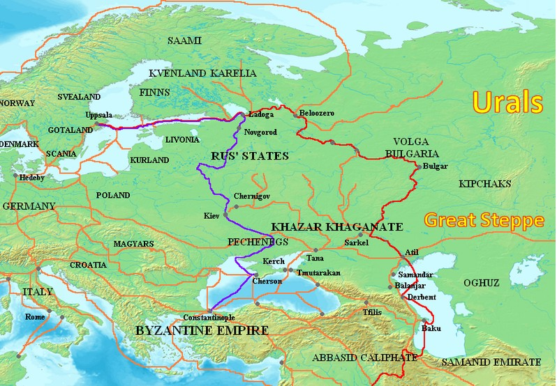 And Map Rus Varangians