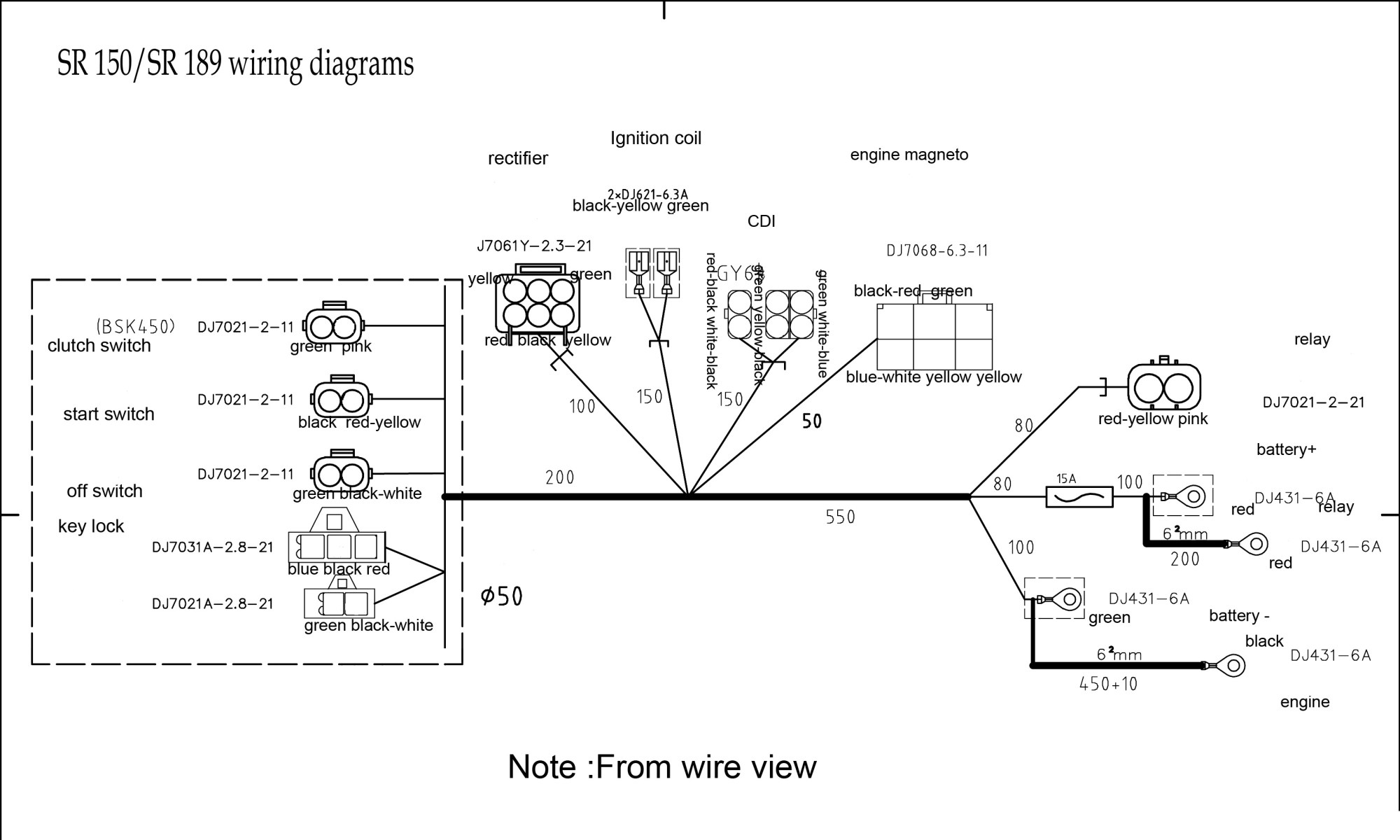 hight resolution of  sr189 dirt bike wire diagram