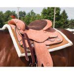 Dura Tech Contour Fleece Canvas Western Saddle Pad 34 X 36 Schneiders Saddlery