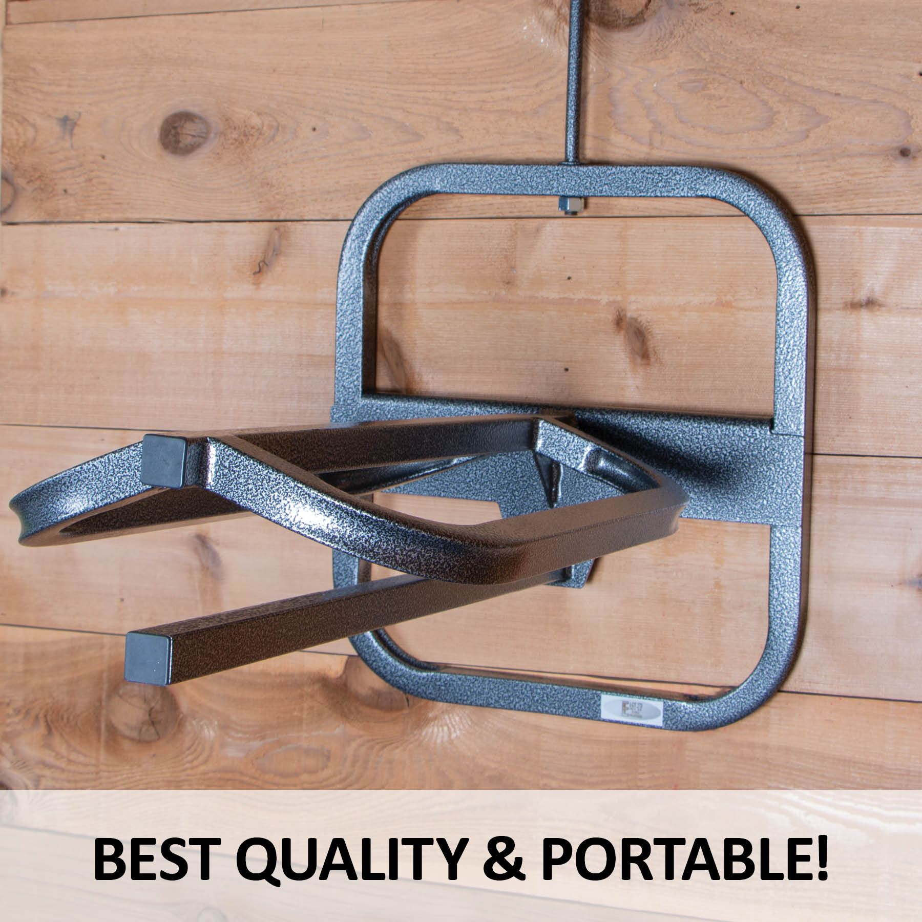 easy up pro series hook over saddle rack with pad bar