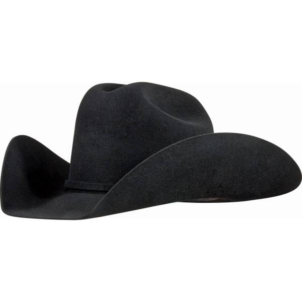 5x Black Showman Western Hat In Cowboy Hats Carriers