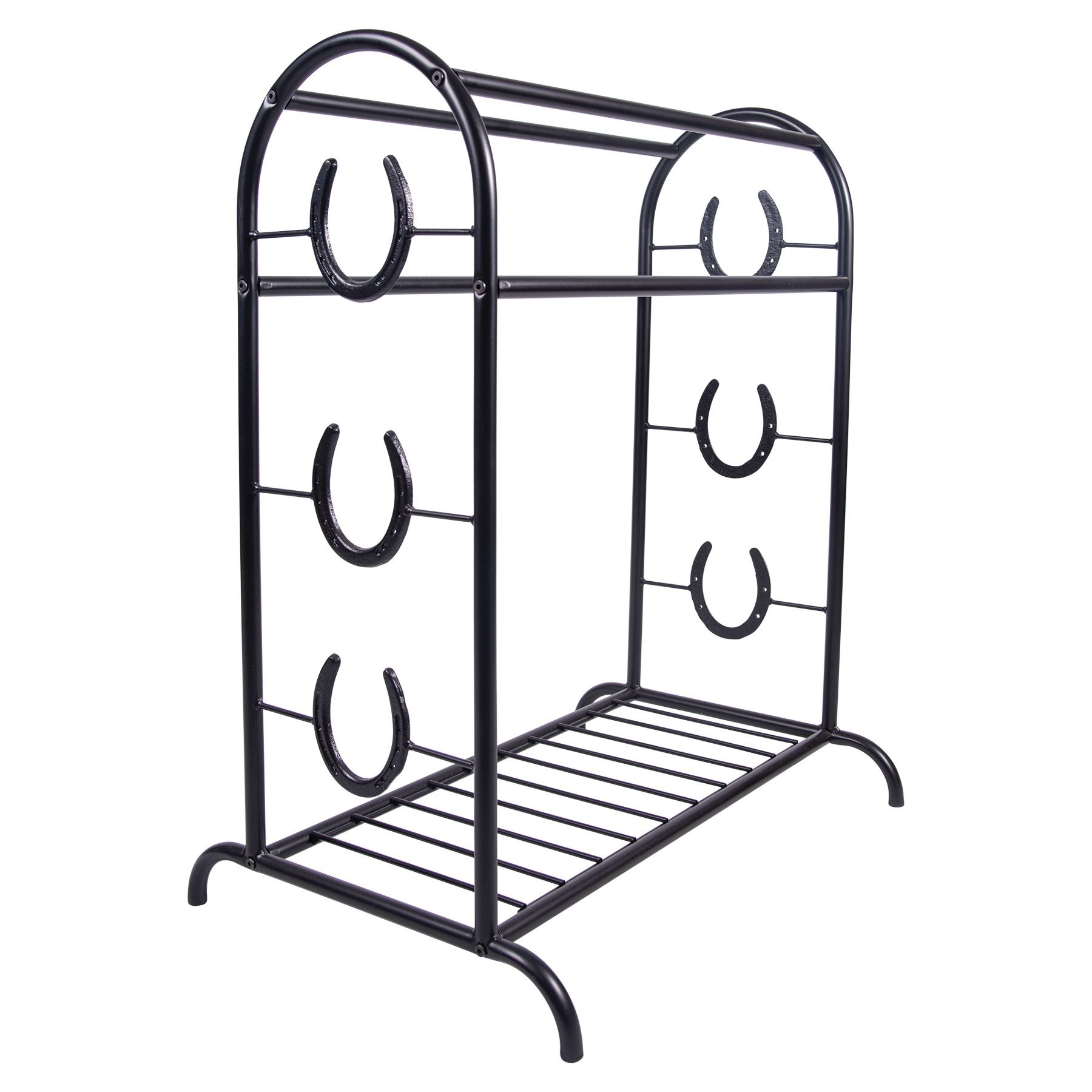 Easy-Up® Horseshoe Trophy Saddle Stand in Saddle Racks