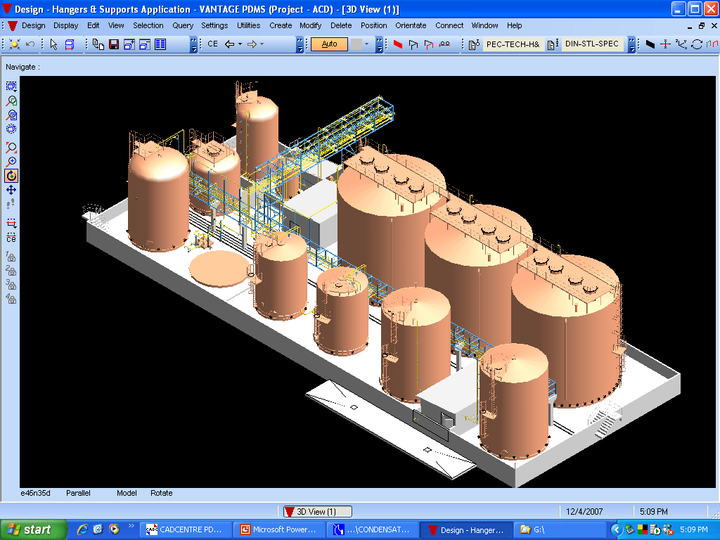 hight resolution of iso view of the tank farm layout