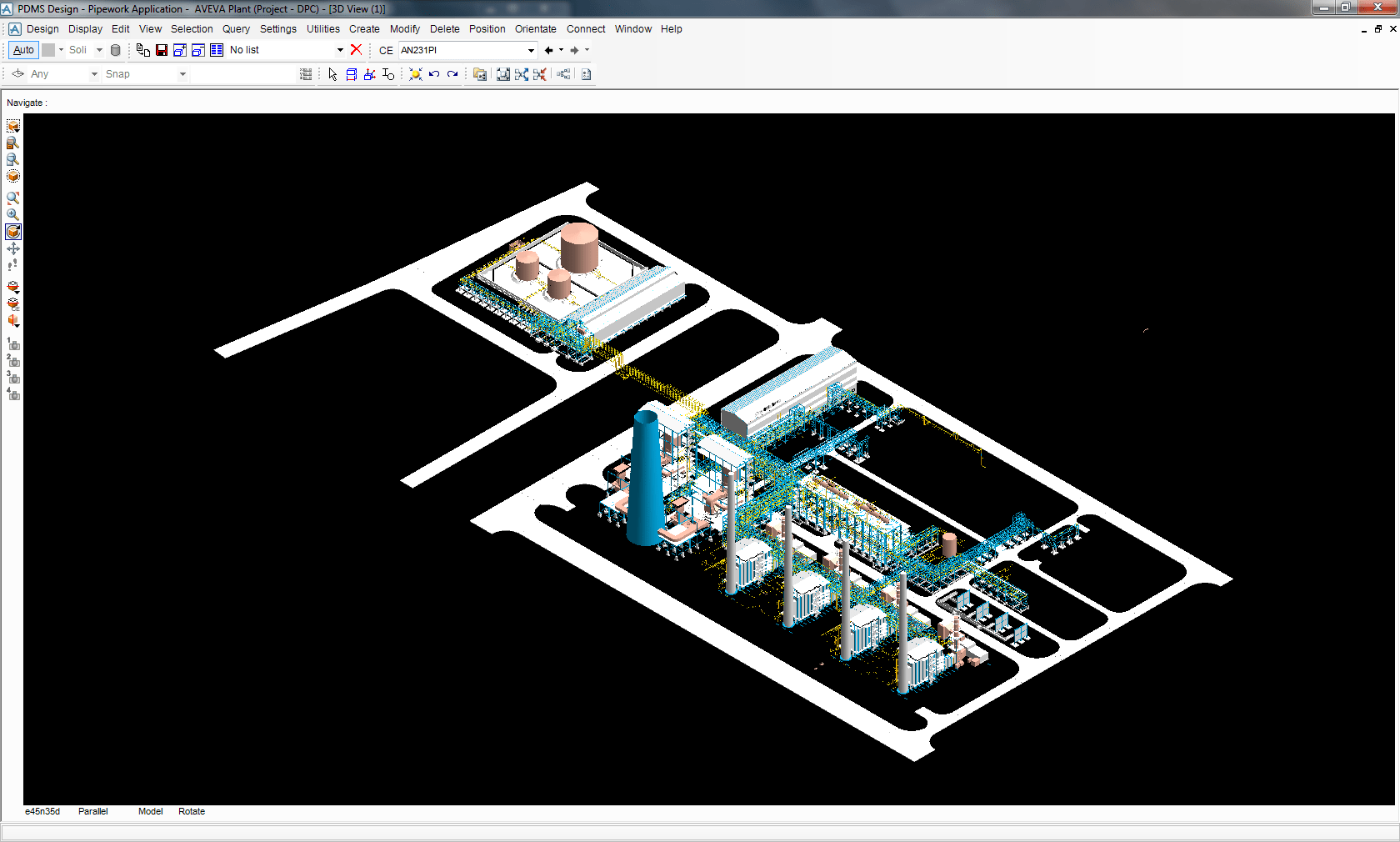 hight resolution of iso view of the 180 mwe combined cycle power plant