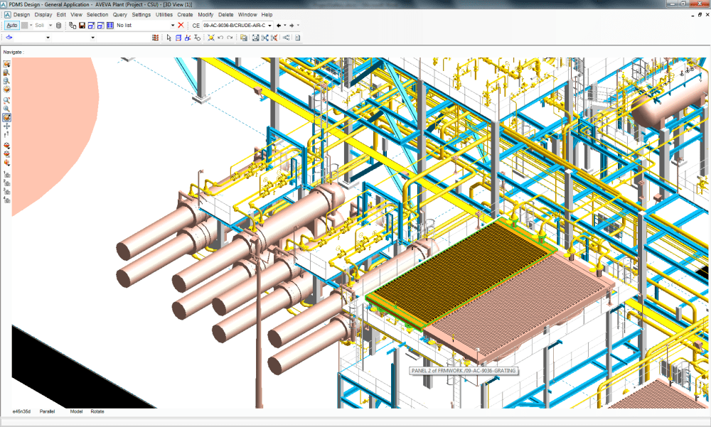 medium resolution of closer view of the heat exchanger and crude air cooler