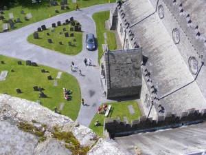 The view from St. Canice's tower (Kilkenny)