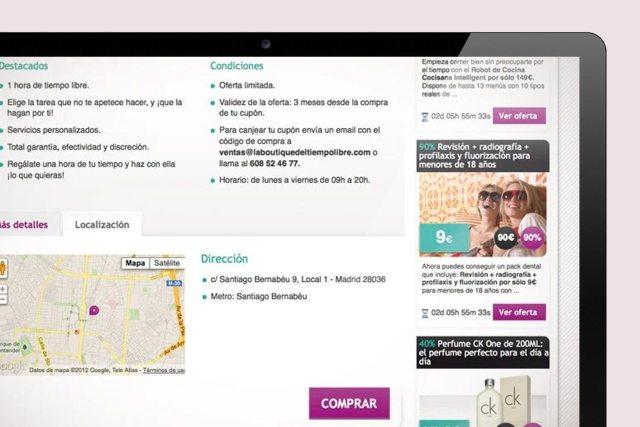 diseño y maquetación web outlet plan