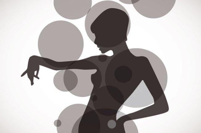 ilustración silueta mujer