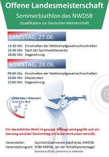 Plakat für Sommerbiathlon 2015