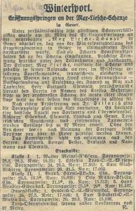 Bericht zum Eröffnungsspringen am 15.03.1925 (schanzenfotos.de)
