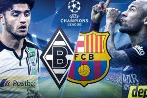 مباراة برشلونة و بروسيا مونشنغلادباخ اليوم الثلاثاء 6-12-2016