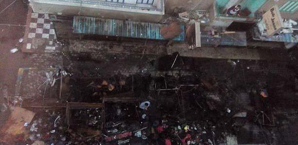 حريق هائل بشارع مصر بالإسماعيلية يدمير عدد من المحال التجارية (بالصور)